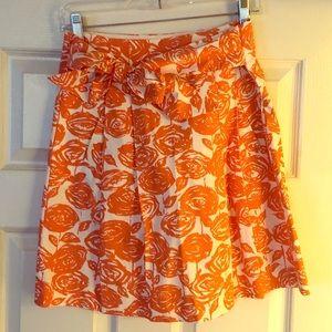 Floral J Crew skirt